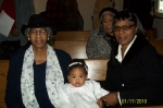 The grandmothers Arelela Cray and Lavater Waters at Gaia's Christening